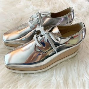 Stella McCartney Elyse Platform Sneakers in Silver